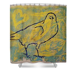 For The Love Of Raven Shower Curtain