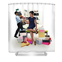 For The Love Of Shoes Shower Curtain