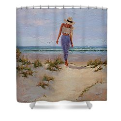 For The Love Of The Sea Shower Curtain