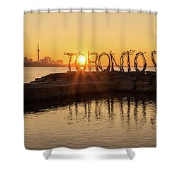 For The Love Of Toronto Shower Curtain