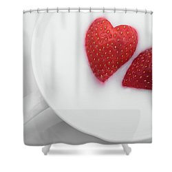 For Valentine's Day Shower Curtain