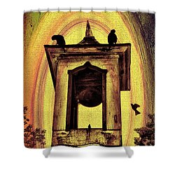 For Whom The Bell Tolls Shower Curtain by Bill Cannon