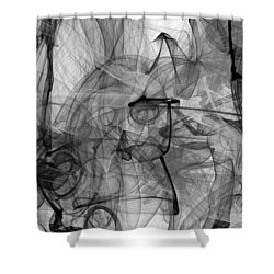 For You I Would Do Anything - We Smoke All Night - The Phone Call Of Pure Bliss  Shower Curtain by Sir Josef - Social Critic -  Maha Art