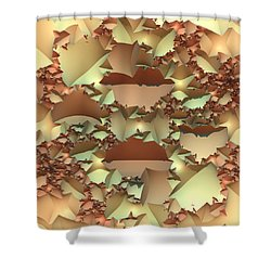 Shower Curtain featuring the digital art For Your Wall by Lyle Hatch