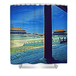 Forbidden City Porch Shower Curtain by Dennis Cox ChinaStock