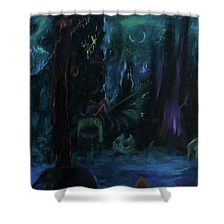 Forbidden Forest Shower Curtain by Christophe Ennis
