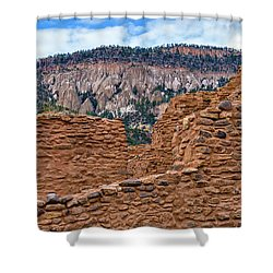 Forbidding Cliffs Shower Curtain by Alan Toepfer