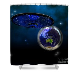 Force Field Shower Curtain by Corey Ford
