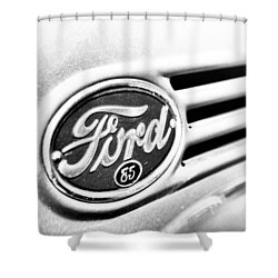 Ford 85 In Black And White Shower Curtain by Caitlyn Grasso