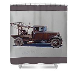 Ford A Type Wrecker. Shower Curtain
