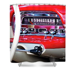 Shower Curtain featuring the photograph Ford Dash by Chris Dutton