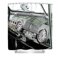 Shower Curtain featuring the painting Ford Dash by Ferrel Cordle