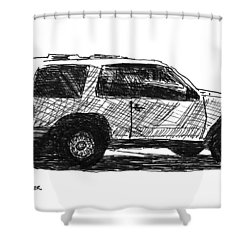 Ford Explorer Shower Curtain by Eric Tressler