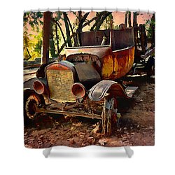 Ford Flatbed Truck Shower Curtain by Glenn McCarthy Art and Photography