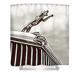 Ford Greyhound Shower Curtain by Caitlyn Grasso