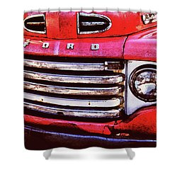Ford Grille Shower Curtain by Michael Thomas