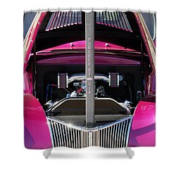 Ford Hot Rod Grille Shower Curtain by Jill Reger