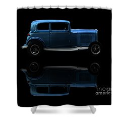 Ford Hot Rod Reflection Shower Curtain by Baggieoldboy