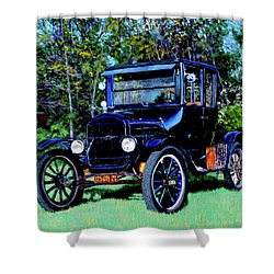 Ford Model T Shower Curtain by Stan Hamilton