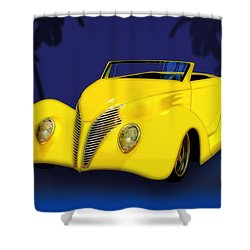 Ford Roadster 1937 In The Palms Shower Curtain