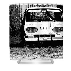 Ford Sketched In Black And White Shower Curtain