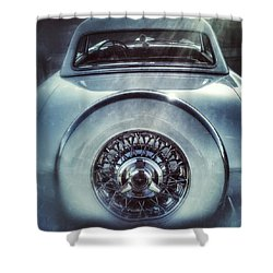 Ford Thunderbird Back Window 23 Shower Curtain