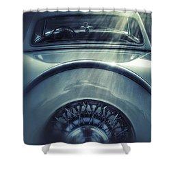 Ford Thunderbird Back Window 3 Shower Curtain