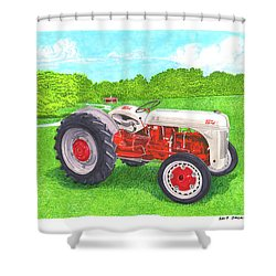 Ford Tractor 1941 Shower Curtain by Jack Pumphrey