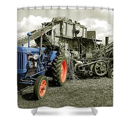 Fordson And The Threshing Machine Shower Curtain by Rob Hawkins