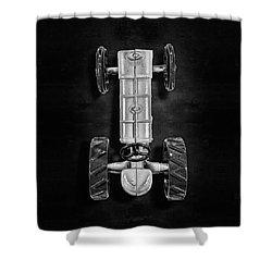 Fordson Tractor Top Bw Shower Curtain by YoPedro