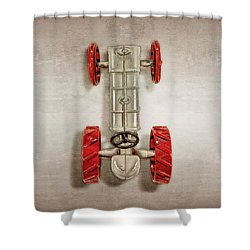 Fordson Tractor Top Shower Curtain by YoPedro