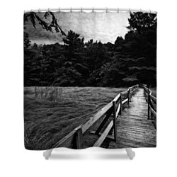 Fore River Marsh Shower Curtain