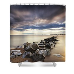Forecast Calls For Cloudy Skies Shower Curtain