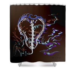 Foreign Object Invasion Shower Curtain