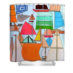 Foresails Shower Curtain