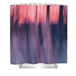 Forest Abstract Shower Curtain