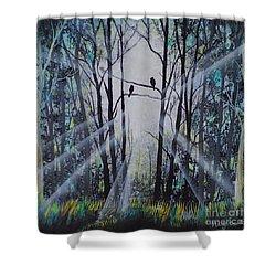 Forest Birds Shower Curtain