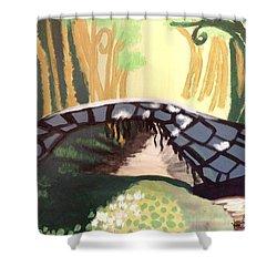 Forest Bridge Shower Curtain