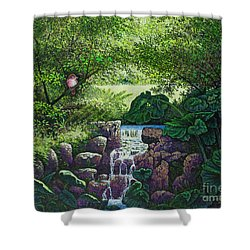 Forest Brook Iv Shower Curtain