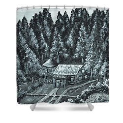 Forest Cottage Shower Curtain