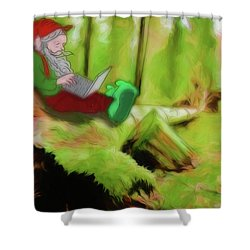 Shower Curtain featuring the digital art Forest Facebook by John Haldane