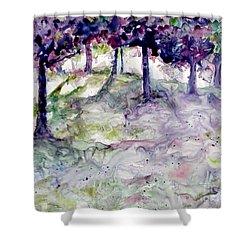 Forest Fantasy Shower Curtain by Jan Bennicoff