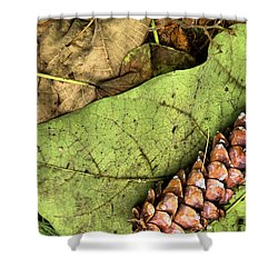 Forest Floor Still Life Shower Curtain