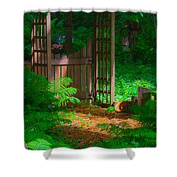 Forest Gateway Shower Curtain