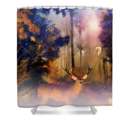 Shower Curtain featuring the painting Forest Glen by Valerie Anne Kelly