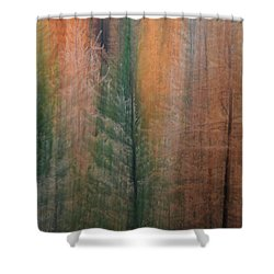 Forest Illusion- Autumn Born Shower Curtain