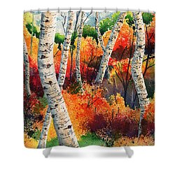 Forest In Color Shower Curtain