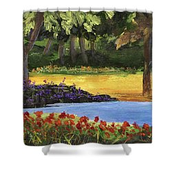 Shower Curtain featuring the painting Forest Lake by Jamie Frier