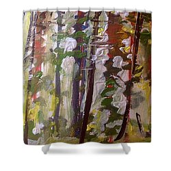 Forest Meeting Shower Curtain by Judith Desrosiers
