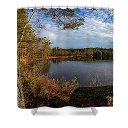 Shower Curtain featuring the photograph Forest Of The Finns by Rose-Maries Pictures